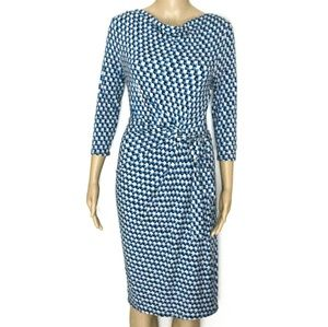 CCO Ann Taylor XSP, Geometric Ruched Blue Mini